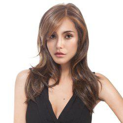 Long Side Parting Colormix Layered Slightly Curly Synthetic Wig -