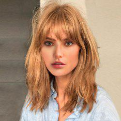 Medium Side Bang Fluffy Natural Straight Human Hair Wig -