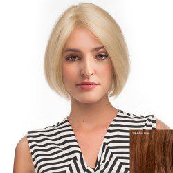 Center Parting Short Straight Bob Human Hair Lace Front Wig -