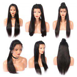 Long Free Part Straight Real Human Hair Lace Front Wig -
