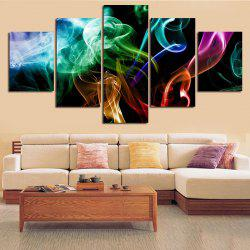 Colorful Smoke Printed Split Unframed Canvas Paintings -