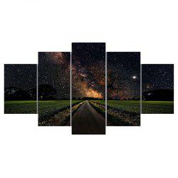 Starry Sky Road Unframed Canvas Wall Art Paintings -