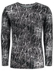 Flash Lightning Print Long Sleeve T-shirt - COLORMIX M