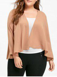 Chiffon Plus Size Waterfall Jacket -