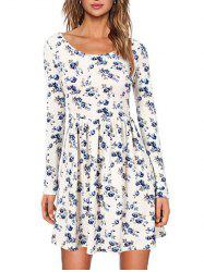 Floral Dress with Long Sleeve -