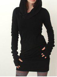 Bodycon Hoodie Dress -