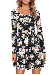 A Line Casual Floral Dress -