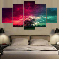 Colorful Starry Sky Printed Unframed Canvas Paintings -
