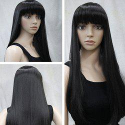 Long Neat Bang Straight Synthetic Wig -