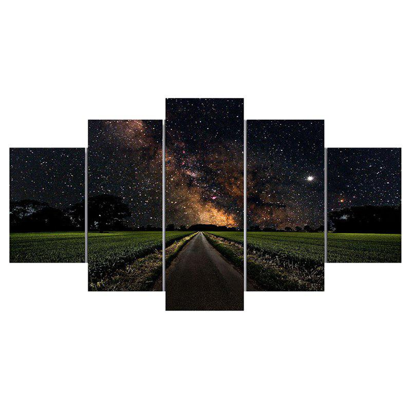 Online Starry Sky Road Unframed Canvas Wall Art Paintings