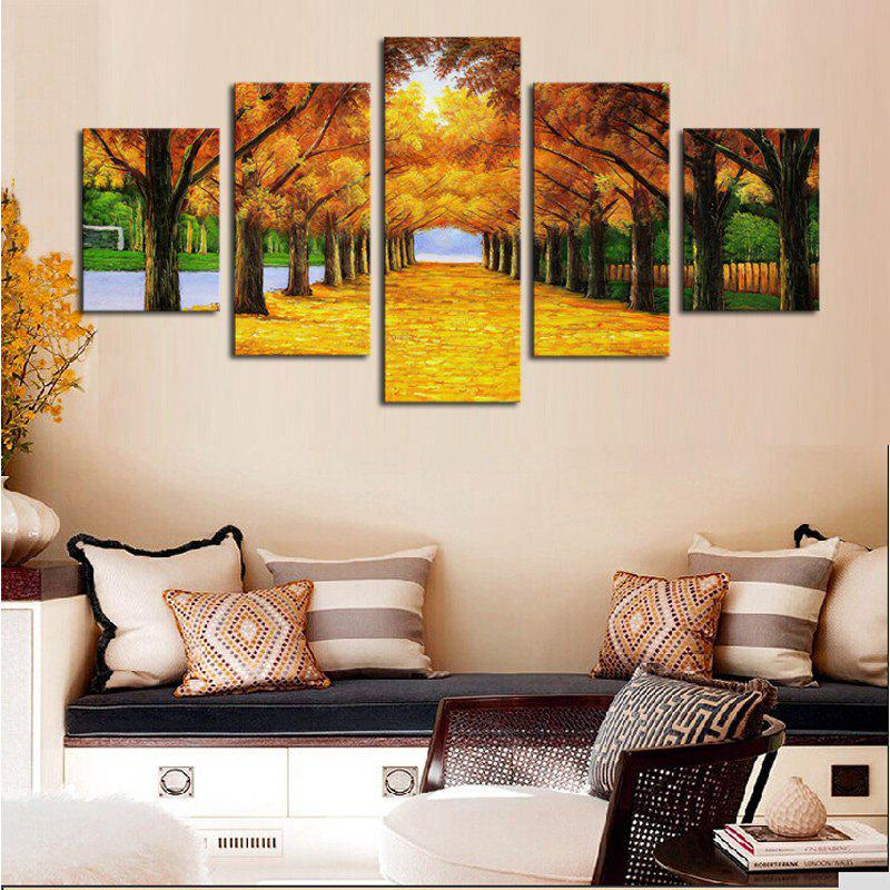 Fashion Unframed Maple Trees Printed Canvas Split Paintings