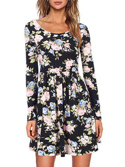 Fancy A Line Casual Floral Dress