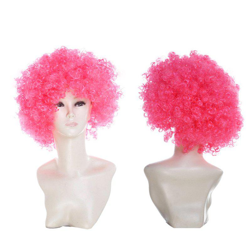 Fancy Short Fluffy Afro Curly Clown Fans Carnival Party Wig