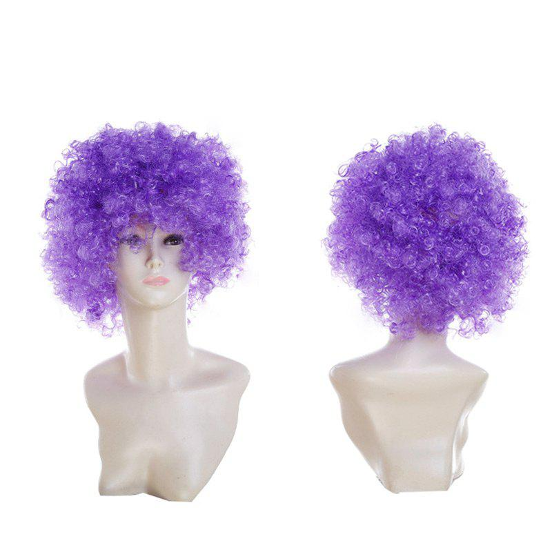 Online Short Fluffy Afro Curly Clown Fans Carnival Party Wig