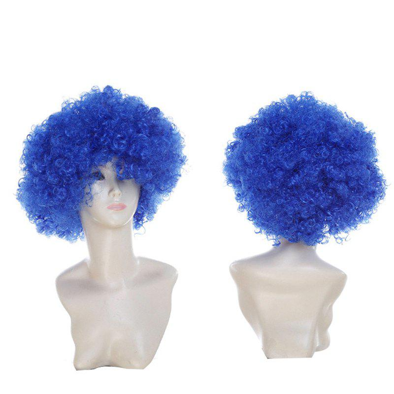 Affordable Short Fluffy Afro Curly Clown Fans Carnival Party Wig
