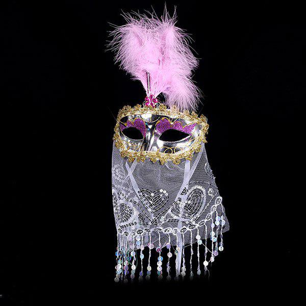 Outfit Prom Party Indian Princess Belly Dance Feather Tulle Mask