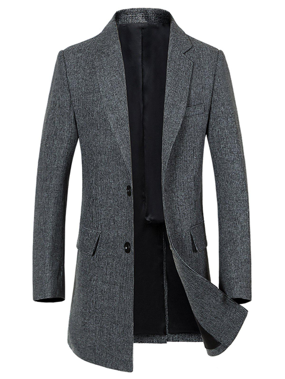 Outfit Flap Pocket Single Breasted Lapel Heathered Coat