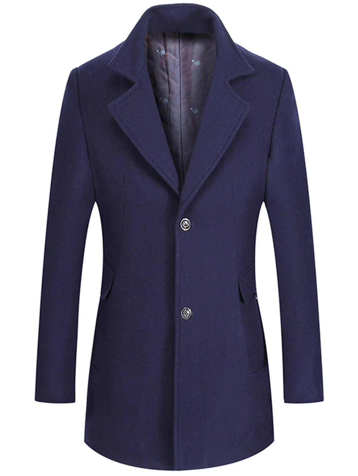 Best Single Breasted Lapel Collar Wool Mix Coat
