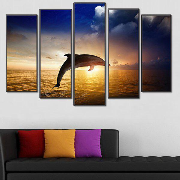 Fashion Unframed Whale Pattern Canvas Paintings