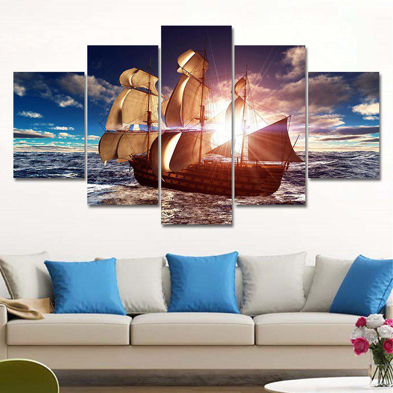 Latest Unframed Sailboat Pattern Canvas Paintings