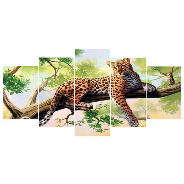 Leopard on The Tree Unframed Split Paintings