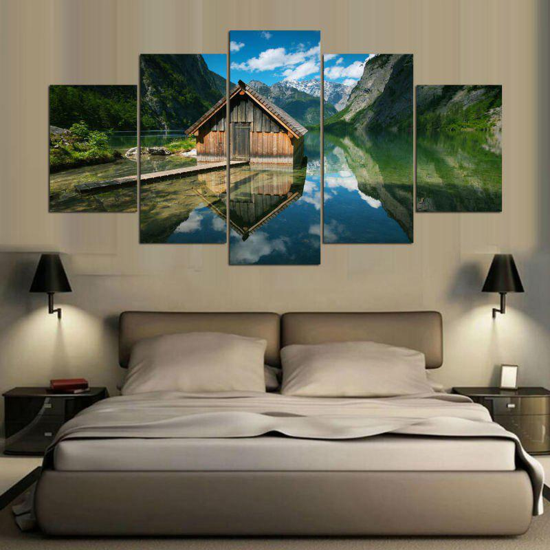 Lake House Print Unframed Split Canvas Paintings
