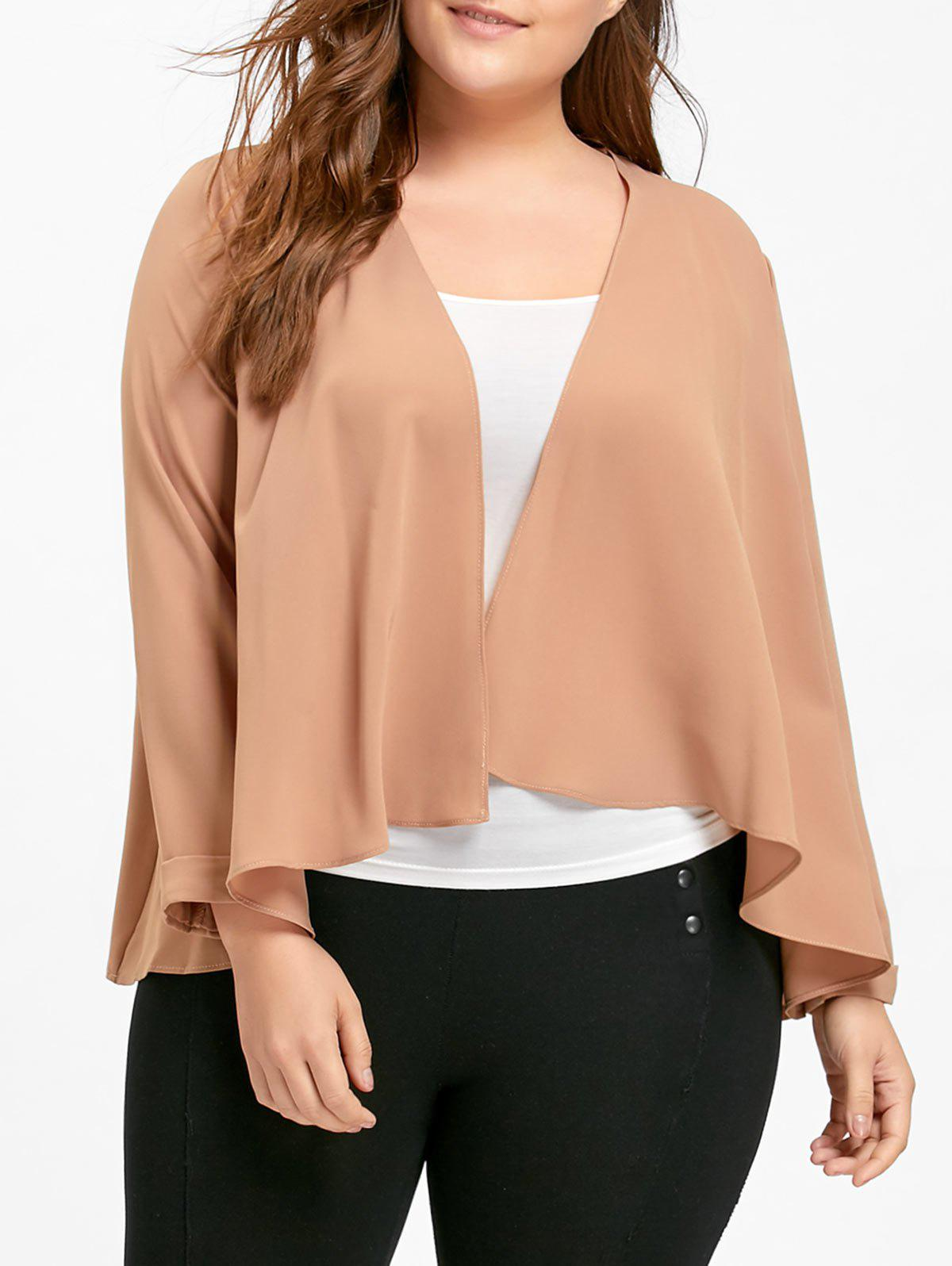 New Chiffon Plus Size Waterfall Jacket