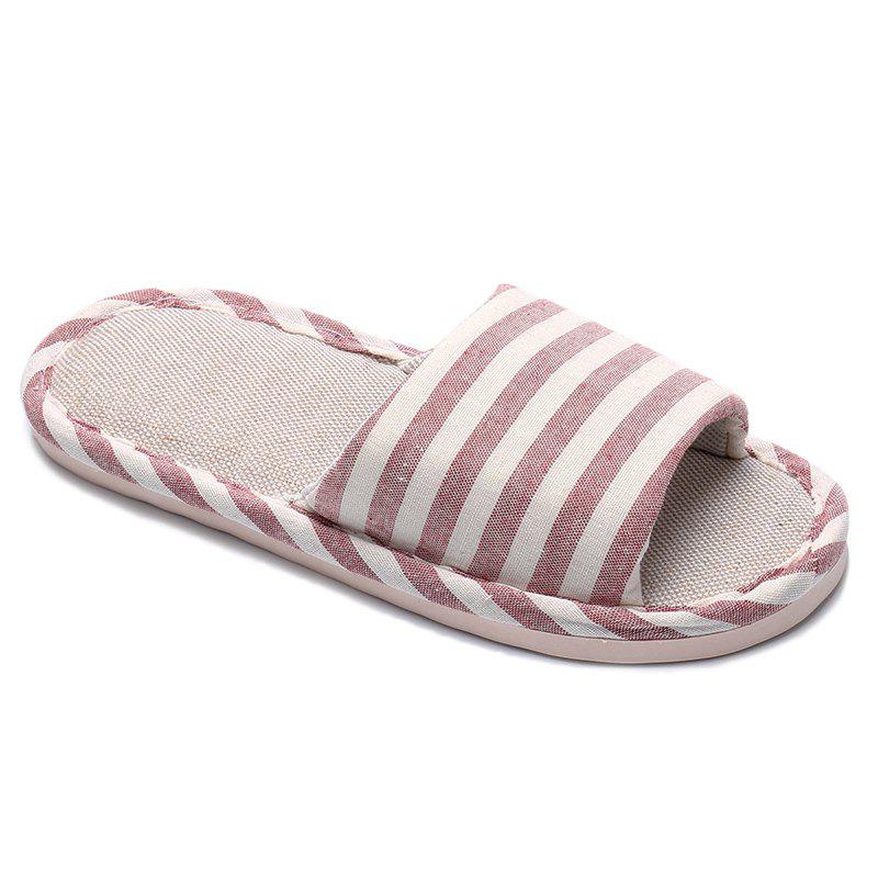 Discount Striped Color Block Indoor Slippers