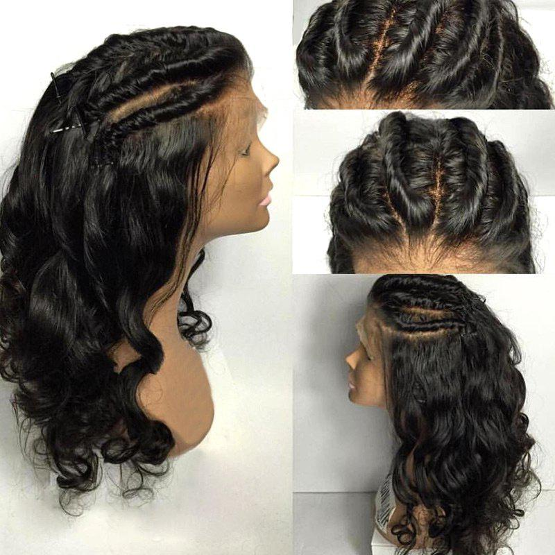 Free Part Long Braided Loose Wave Lace Front Real Human Hair Wig