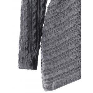 Plus Size Cable Knit Overlap Fitted Top -