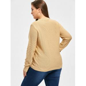 Pull taille haute tricot croissable - Camel Clair XL