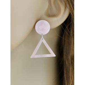 Alloy Geometric Triangle Stud Earrings -