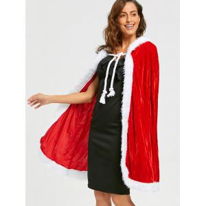 Velvet Christmas Queen Costume - RED ONE SIZE