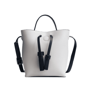 Sac Crossbody Bucket et Zip Clutch Bag - Gris