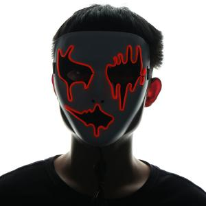 EL Wire LED Glowing Halloween Full Face Mask -