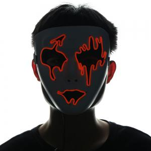 EL Wire LED Luminous Halloween Mask -