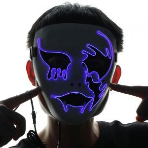EL Wire Flashing Halloween Cosplay Creepy Mask -