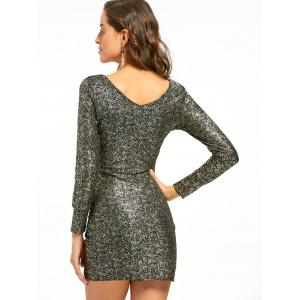 Robe miniature à encolure dégagée Bodycon - Or S
