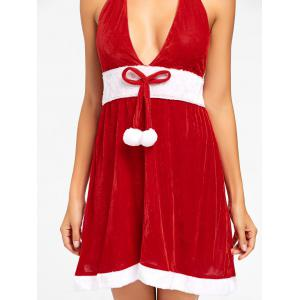 Halter Velvet Christmas Dress -