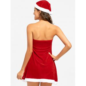 Strapless Velvet Christmas Dress -