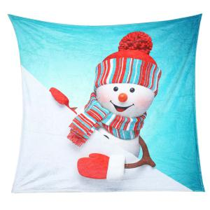 Christmas Snowman Pattern Soft Coral Fleece Blanket -