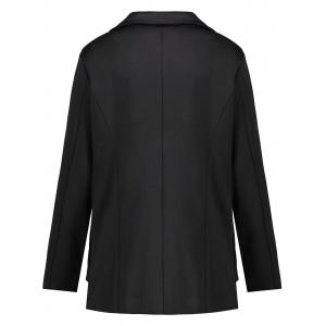 Plus Size Lapel One Button Blazer -