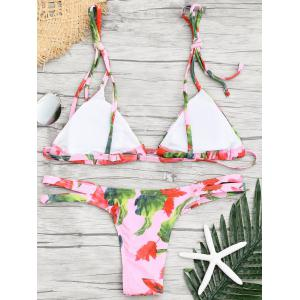 Halter Low Waisted Print Bikini Set -