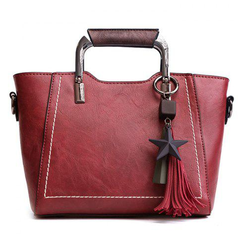 Fashion Five Pointed Star Hanging Tassels Satchel