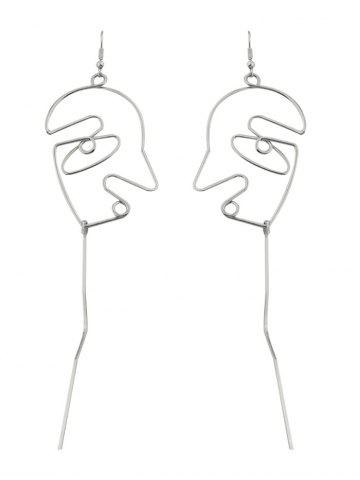Outfits Hollow Face Design Bar Hoop Earrings