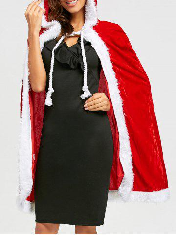 Outfits Velvet Christmas Queen Costume - ONE SIZE RED Mobile