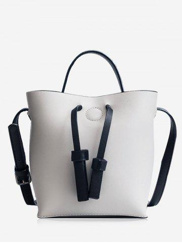 Sac Crossbody Bucket et Zip Clutch Bag Gris