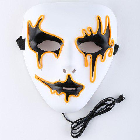 Latest EL Wire LED Glowing Halloween Full Face Mask ORANGE