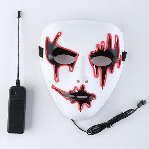Fashion EL Wire LED Glowing Halloween Full Face Mask