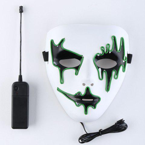 Online EL Wire LED Glowing Halloween Full Face Mask